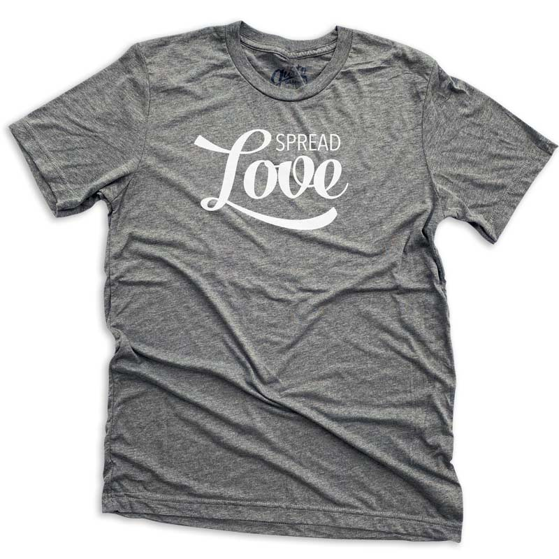 spread love t-shirt by gusto graphic tees, graphic t-shirt, graphic t shirt, graphic tee, cool graphic t shirt, cool t shirt, cool graphic tee