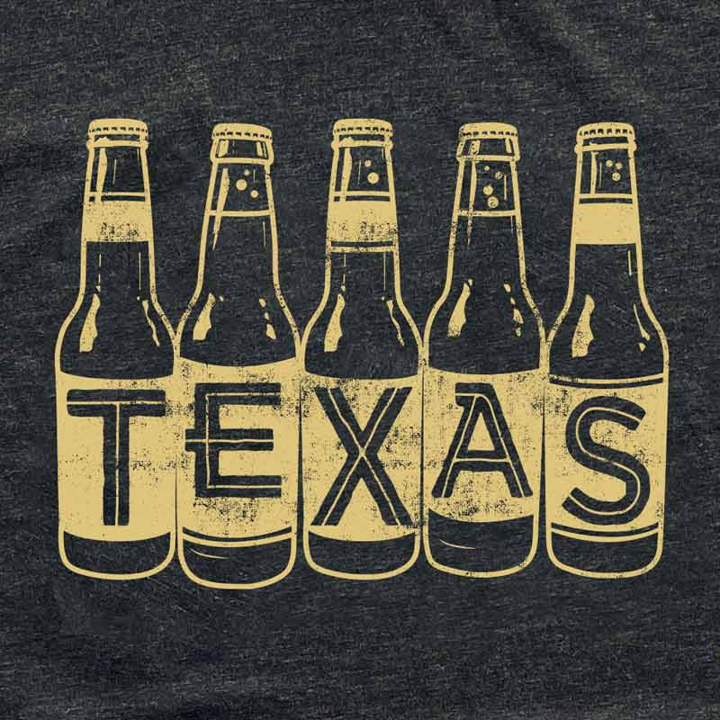 Beer Bottle Texas t shirt by Gusto Graphic Tees, craft beer texas tee, beer t shirt, beer tee, beer bottle graphic tee, austin texas t shirt, texas graphic tee, texas graphic t shirt, texas tee, austin t shirt, texas t shirt, graphic tee, graphic t shirt, cool graphic t shirt, cool t shirt, cool graphic tee, charcoal black triblend t-shirt