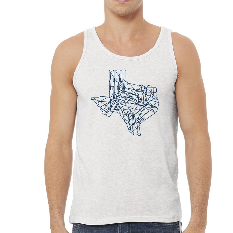 Texas State Bottles Graphic Unisex Jersey Tank