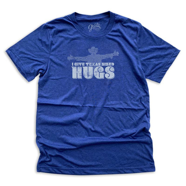 Texas Sized Hugs T-shirt from Gusto Graphic Tees