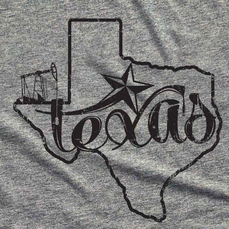 texas oil, black gold, texas, texas tshirt, texas tee, texas graphic tee, graphic t shirt, oil, oil well, oil company, texas oil company