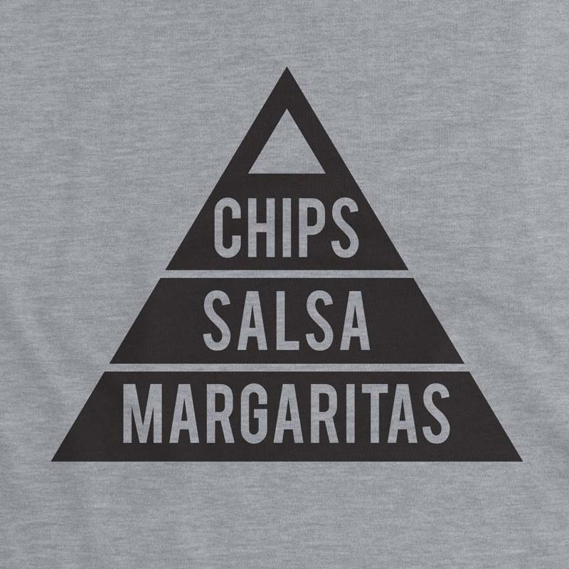 chips, salsa, margaritas - women's muscle tank - gusto graphic tees, graphic t shirt, graphic tee, cool graphic t shirt, cool t shirt, cool graphic tee