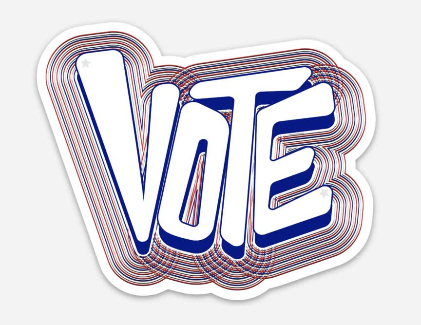 vote, vote for change, vote sticker, vote texas, sticker, vinyl sticker, vote, republican sticker, democrat sticker