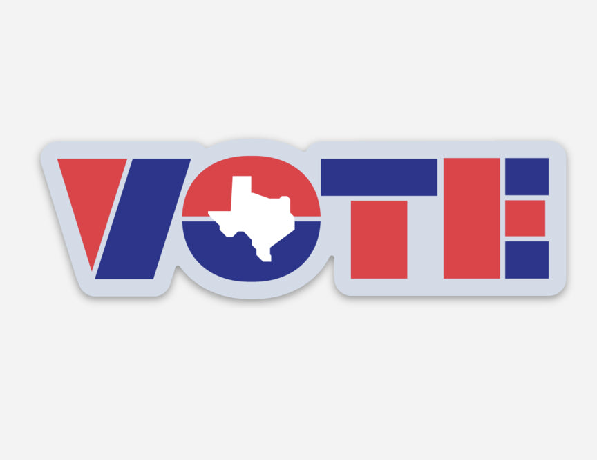 vote texas sticker, vote texas, vote, vote for change, texas, texas vote, cast your ballot, vote, sticker, vinyl sticker