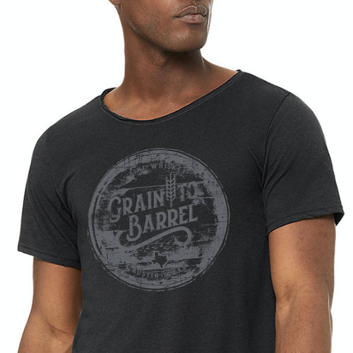 Texas Whiskey Raw Neck T-shirt