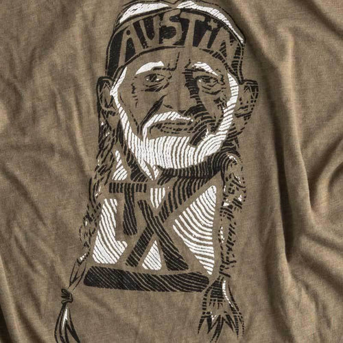 willie Nelson T-shirt by Gusto Graphic Tees - austin, texas, texas t-shirt, austin texas t shirt, texas graphic tee, texas graphic t shirt, texas tee, austin t shirt, texas t shirt, graphic tee, graphic t shirt, cool graphic t shirt, cool t shirt, cool graphic tee