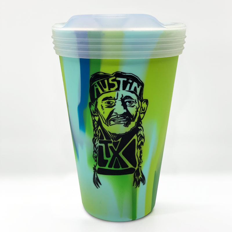 Willie Nelson 16oz Silipint Sea Swirl with Lid