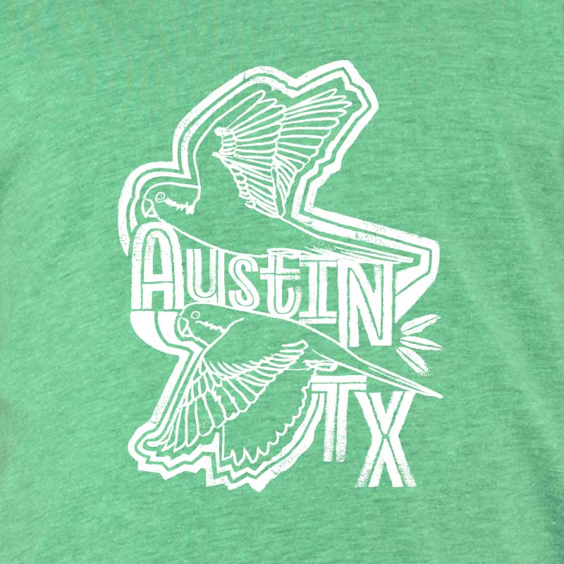 quaker parrots, monk parakeet, Austin birds, Austin graphic t shirt, Austin graphic tee, texas t shirt, texas tee, quaker parrot t shirt, youth t shirt, youth tee, graphic tee, Austin, Austin Texas, texas