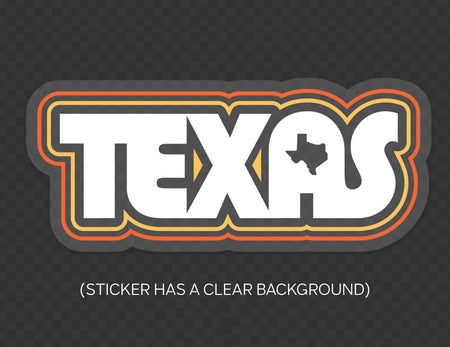 Texas Love Rainbow Sticker