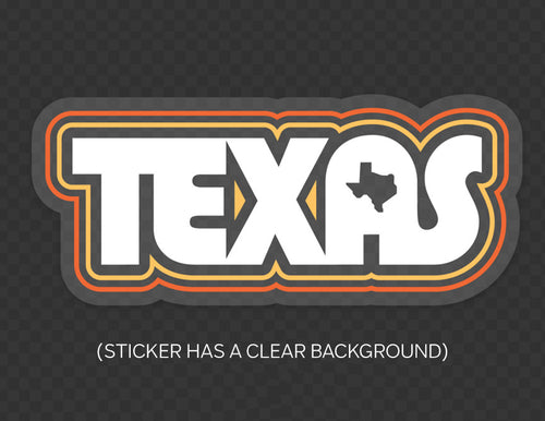 Retro Texas Clear Sticker by Gusto Graphic Tees #texassticker