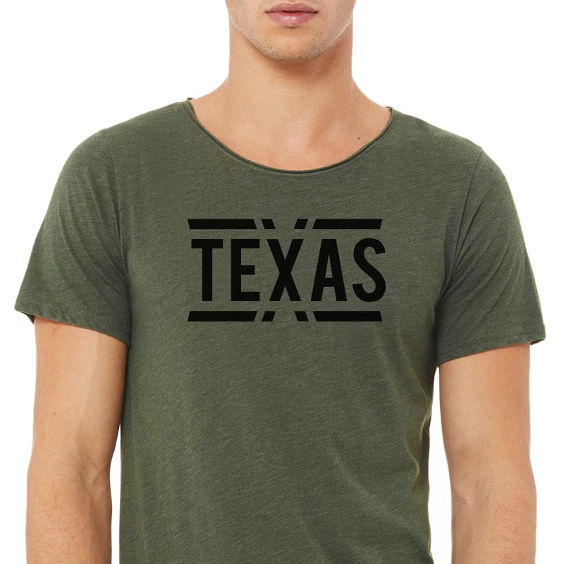 teXas Graphic Raw Neck T-shirt