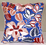 Hibiscus Blue Cushion Covers