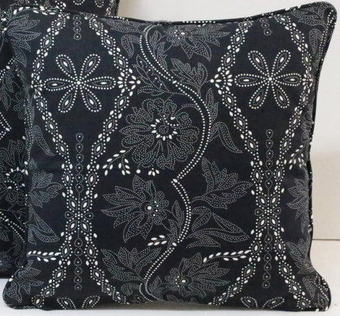 Floral Phantom Black Cushion Covers
