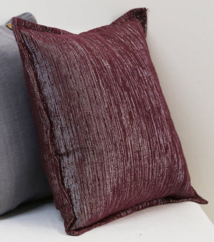 Deco Burgundy Flanged Cushion Covers