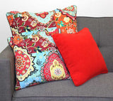 Chenille Red Cushion Cover