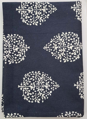 Avalon Navy Table Runner