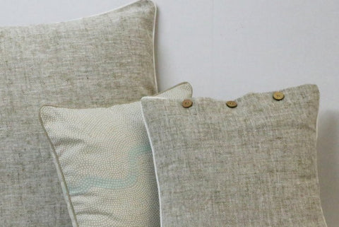 Heather Beige Cushion Covers