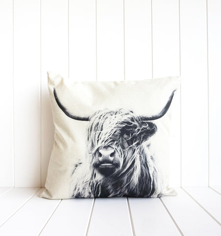 Bovine Monochrome Solo Cushion