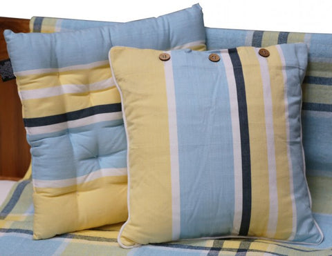 Campagne Blue/Yellow Cushion Covers