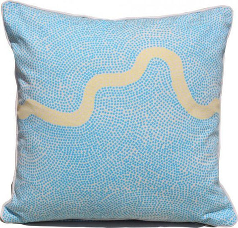 River Blue Yellow Cushion Covers