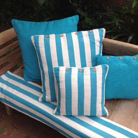 Turquoise Stripe Cushion Covers
