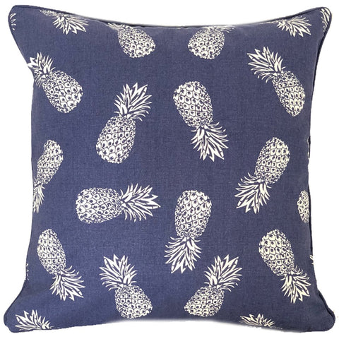 Pineapple Blue Cushion Cover