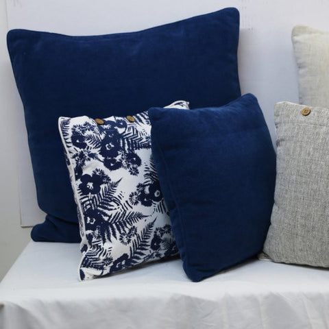 Chenille Navy Cushion Cover