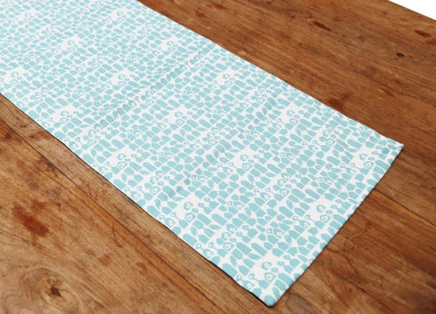 Hamlet Aqua Table Runner