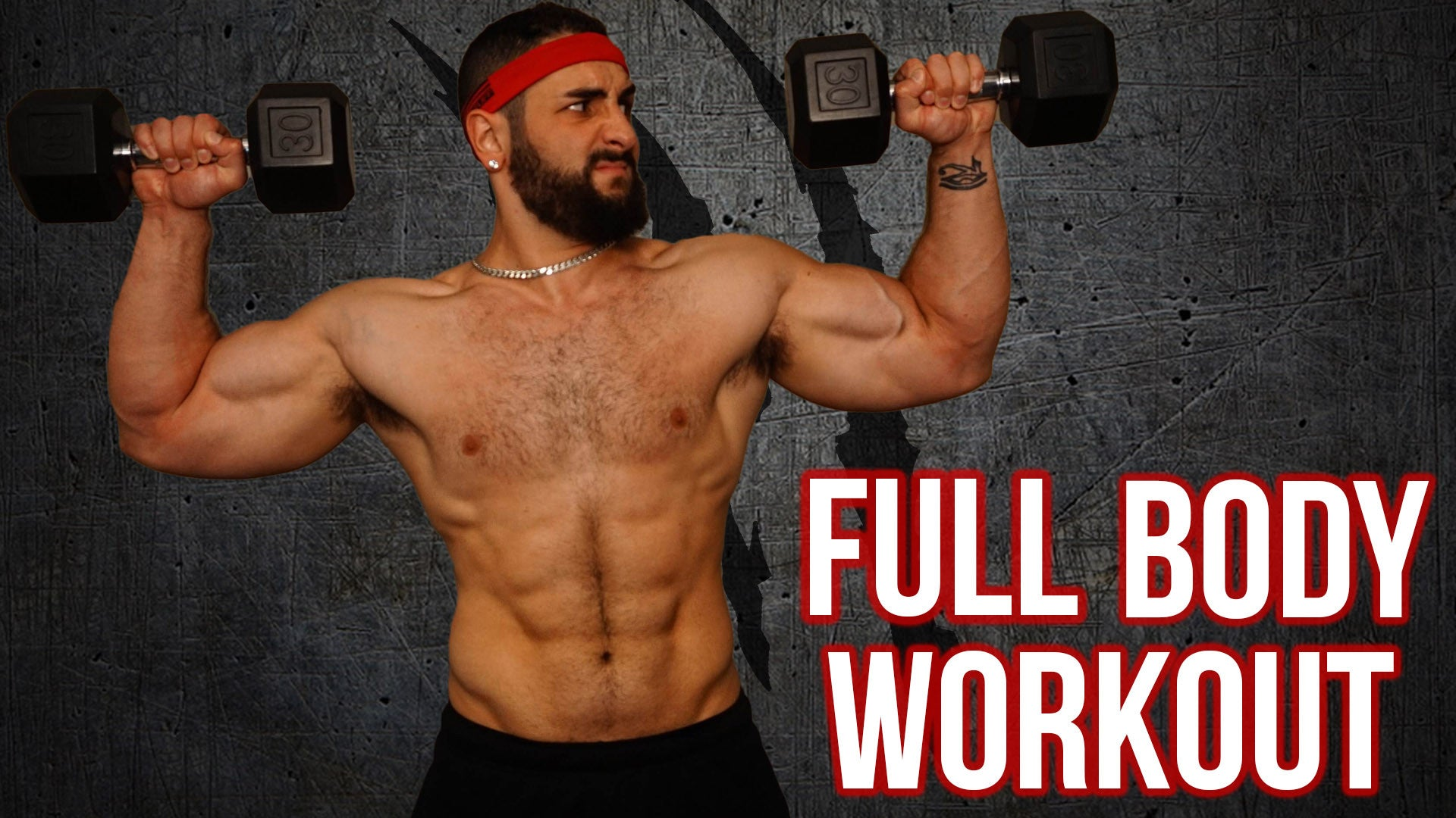 15 Minute Home Full Body Workout With Dumbbells Killer Total Muscle Building