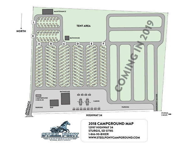 Steel Pony Campground Sturgis Map