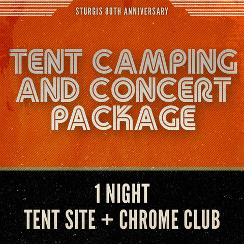 Tent Camping and Concert Package