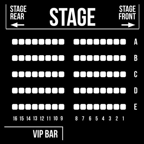 VIP Reserved Seating - Saturday, August 10, 2019