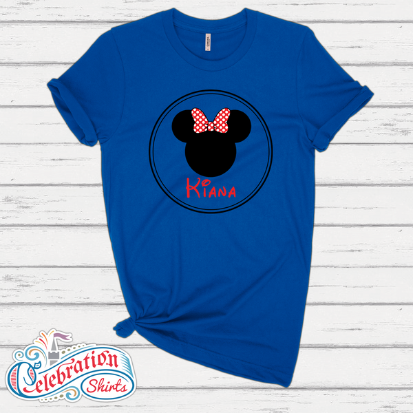 Personalized Mickey & Minnie Tee