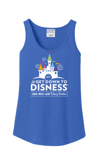 Get Down To Disness Personalized Ladies Fit Tank Top