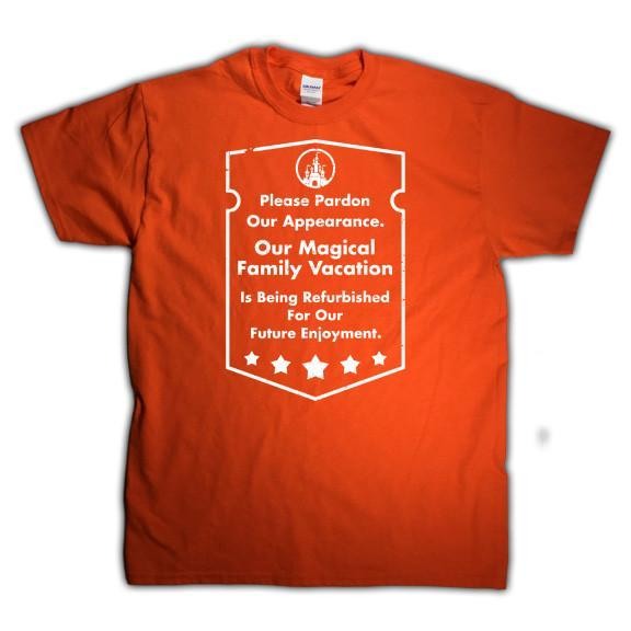 Disneyworld matching shirt, orange