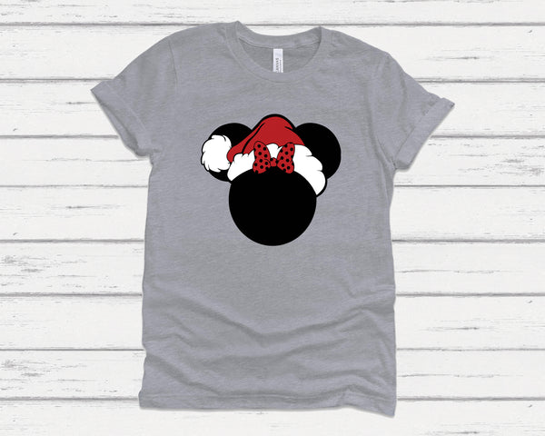 Santa Minnie and Mickey Tees