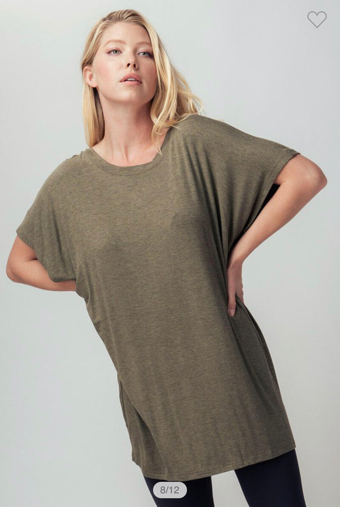 """Green Olive"" Top"