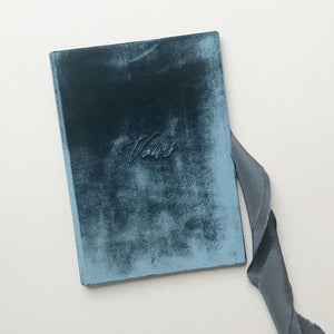 Vow Book Covers Uk Velvet - Dark Blue Wedding Stationery wedding theme