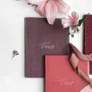 Vow Book Covers Uk Velvet - Purple Wedding Stationery , Purple Wedding Theme