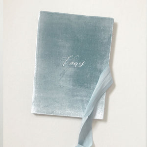 Vow Book Covers Uk Velvet - Pale Blue Wedding Stationery wedding theme