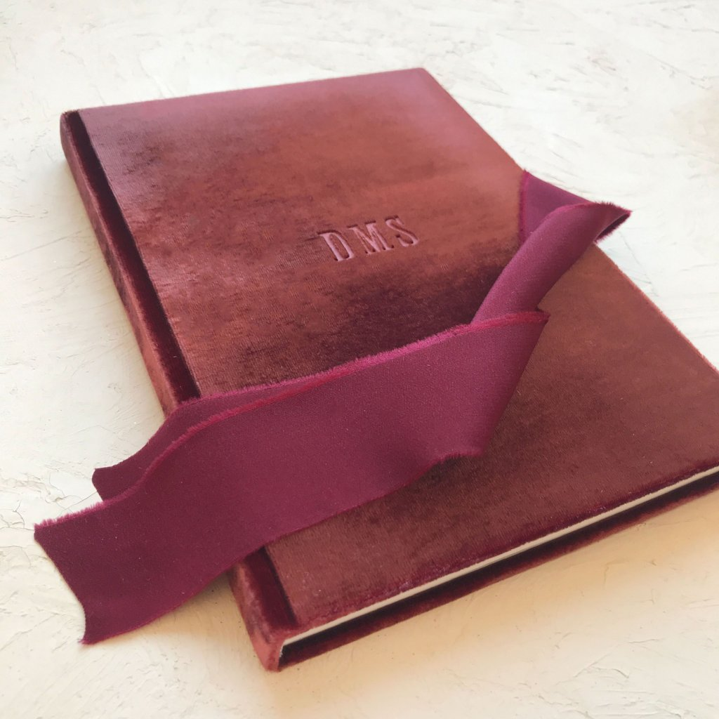 Custom Velvet Notebook - Red Wine