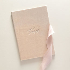 Vow Book Covers Uk Velvet - Rose Wedding Stationery