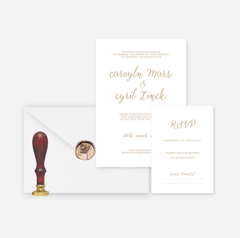 Elegant Foil My Name -Pre Wedding Stationery Set