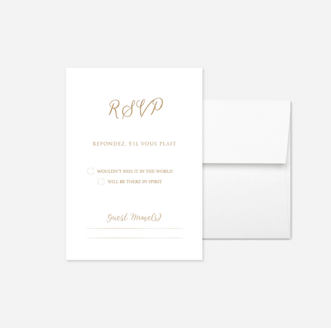 Elegant Foil My Name RSVP Card