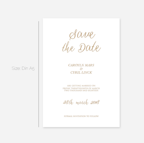 Elegant Foil My Name Save the Date Cards