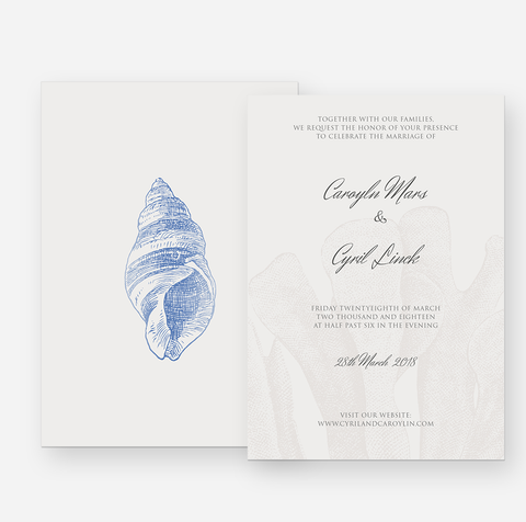 Seaside Affairs Wedding Invitation