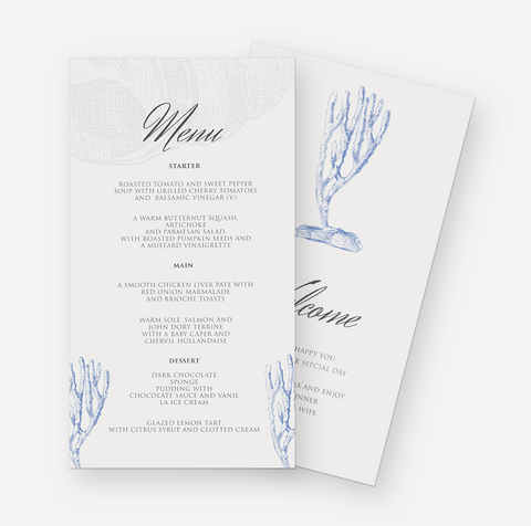 Seaside Affairs MENU cards