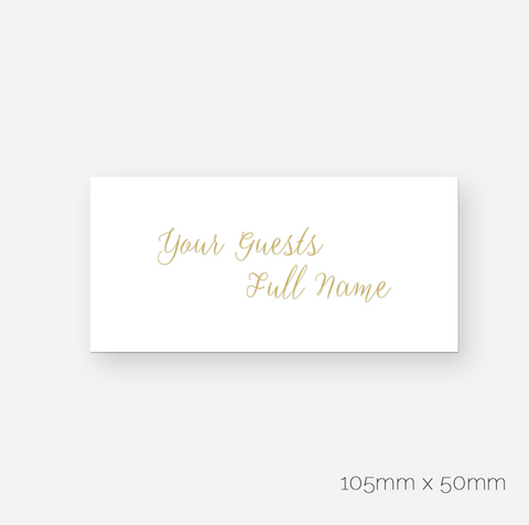 Elegant Foil My Name - Seating Cards
