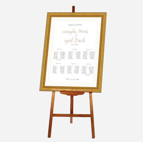 Elegant Foil My Name - Seating Plan