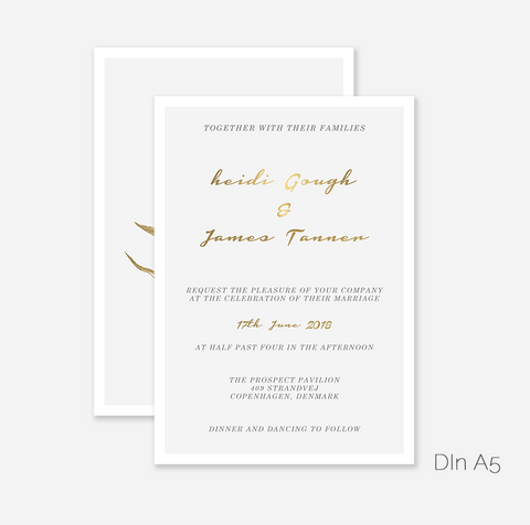Blumengold Wedding Invitation